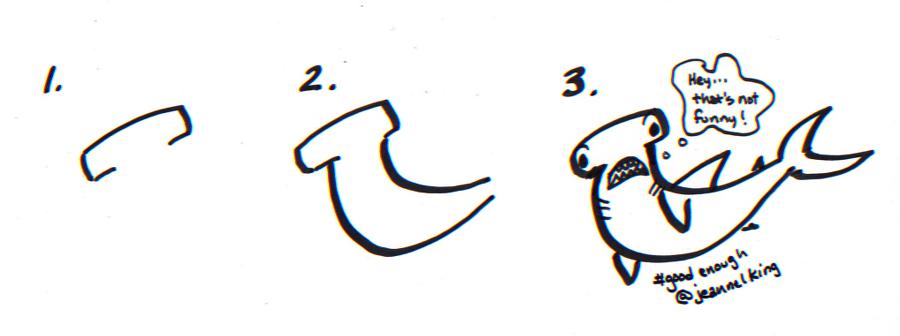 How to draw a Good Enough hammerhead shark - tutorial ...