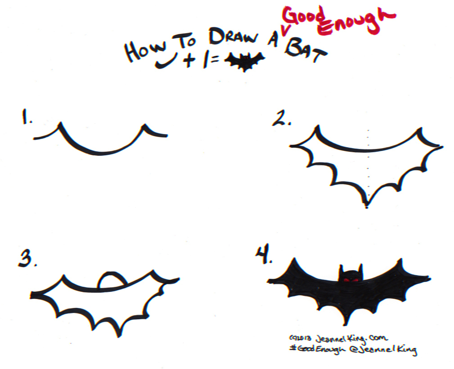 how to draw a good enough bat three ways