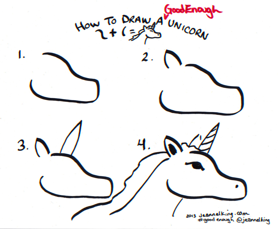 Jeannelking how to draw a good enough unicornree ways how to draw a good enough unicorn tutorial image by jeannel king ccuart Choice Image