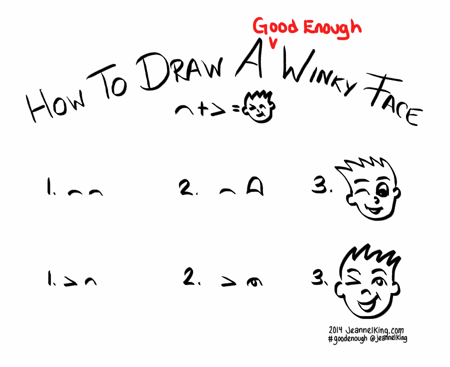 how to draw a winking eye