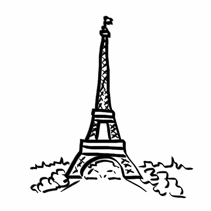 Eiffel Tower Black And White Drawing Eiffel Tower Drawing Step by