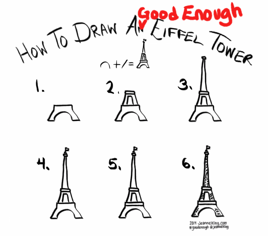 jeannelkingcom  How to draw a Good Enough Eiffel Tower in six steps