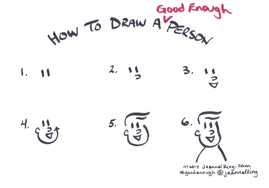 how to draw a good enough person