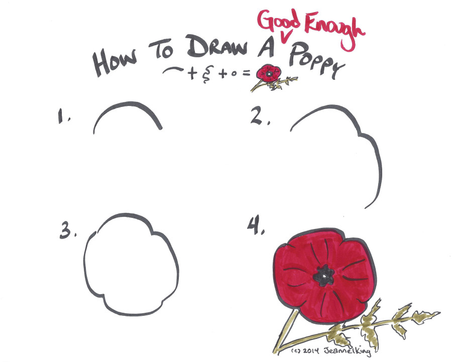 Jeannelking how to draw a good enough poppy how to draw a good enough poppy mightylinksfo